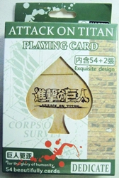 Attack on Titan - Deck of 54 beautiful playing cards China, Attack on Titan, Games, 2015, scifi, japan