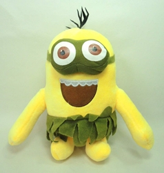 Despicable Me 8 inch plush Island Minion  (2-eyed B) China, Despicable Me, Plush, 2015, animated, movie