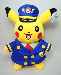 Pokemon 11 inch plush - Pikachu in Conductor Uniform Tomy, Pokemon, Plush, 2015, animated, game