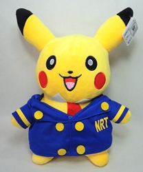 Pokemon 11 inch plush - Pikachu in Conductor Uniform (no cap) Tomy, Pokemon, Plush, 2015, animated, game