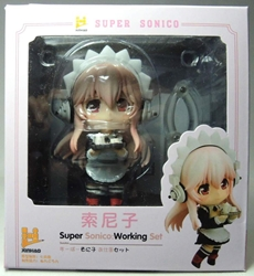 Super Sonico 3 inch Figure - Super Sonico in french maid uniform China, Super Sonico, Action Figures, 2015, anime, japan