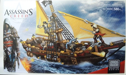 Assassins Creed Mega Bloks Set 94308 Gunboat Takeover Mega Bloks, Assassins Creed, Legos & Mega Bloks, 2014, warriors, video game