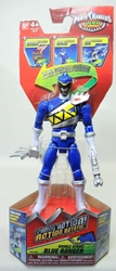 Power Rangers Dino Charge 6.5 inch Figure - Double Strike Blue Ranger Bandai, Power Rangers, Action Figures, 2015, scifi, tv show