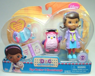 Doc McStuffins 3.75 inch Figure - Eye Doctor & Hootsburgh Just Play, Doc McStuffins, Action Figures, 2014, family