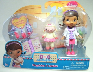 Doc McStuffins 3.75 inch Figure - Physician & Lambie Just Play, Doc McStuffins, Action Figures, 2014, family