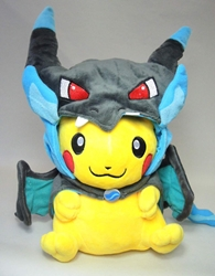 Pokemon plush 11 inch Pikachu in mega charizard costume China, Pokemon, Plush, 2015, animated, game