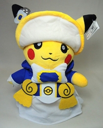 Pokemon plush 10 inch Pikachu in ceremonial attire China, Pokemon, Plush, 2015, animated, game