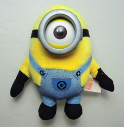 Despicable Me 5 inch plush Minion  (1-eyed) China, Despicable Me, Plush, 2015, animated, movie
