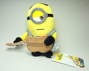 Despicable Me 5 inch plush Minion with guitar China, Despicable Me, Plush, 2015, animated, movie