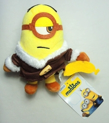 Despicable Me 5 inch plush Minion with fur coat China, Despicable Me, Plush, 2015, animated, movie