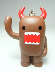 Domo 2 inch keychain - Devil Domo Waving China, Domo, Keychains, 2015|Color~brown, kidfare, commercial
