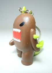 Domo 2 inch keychain - Tyrano- Domo! China, Domo, Keychains, 2015|Color~brown, kidfare, commercial