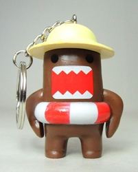 Domo 2 inch keychain - Beach Domo China, Domo, Keychains, 2015|Color~brown, kidfare, commercial
