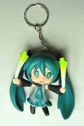 Vocaloid 2.25 inch keychain - Miku Hatsune (green hair) China, Vocaloid, Keychains, 2015|Color~green, anime, japan