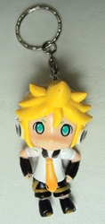 Vocaloid 2.25 inch keychain - Len Kagamine (yellow hair & tie) China, Vocaloid, Keychains, 2015|Color~yellow|Color~white, anime, japan