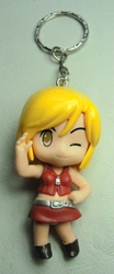 Vocaloid 2.25 inch keychain - Meiko  (red dress) China, Vocaloid, Keychains, 2015|Color~yellow|Color~red, anime, japan