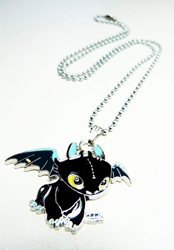 How to Train your Dragon Toothless necklace China, How to Train your Dragon, Necklace, 2015|Color~black, animated, movie