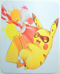 Pokemon Mouse Pad - Pikachu squirting ketchup from a bottle China, Pokemon, Mouse Pads, 2015, animated, game