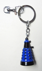 Dr Who Dalek alloy keychain (blue) China, Dr Who, Keychains, 2015|Color~blue, scifi, tv show