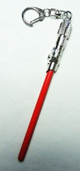 Star Wars Sith Lightsaber alloy keychain (chrome&red) China, Star Wars, Keychains, 2015|Color~chrome|Color~red, scifi, movie