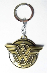 DC Wonder Woman Logo alloy keychain (bronze finish)