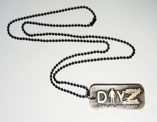 DAYZ dog tag alloy pendant necklace China, DAYZ, Necklace, 2015|Color~bronze, horror, halloween, video game