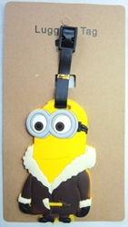 Despicable Me Minion in Fur coat Luggage Tag China, Despicable Me, Luggage Tag, 2015|Color~yellow|Color~brown, animated, movie