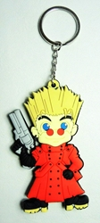 Trigun - Vash the Stampede Soft Keychain China, Trigun, Keychains, 2015|Color~red, fantasy, western, japan