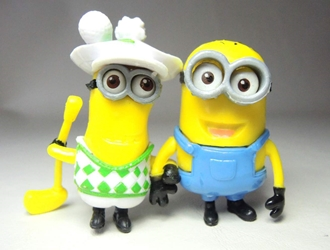 Despicable Me 2 inch Minion figurines - Golfer & friend China, Despicable Me, Action Figures, 2015, animated, movie