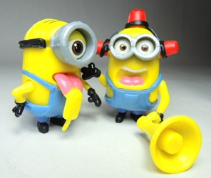 Despicable Me 2 inch Minion figurines - Bullhorn minion & Popsicle minion China, Despicable Me, Action Figures, 2015, animated, movie