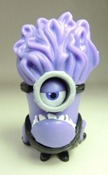 Despicable Me 2 inch Minion figurine - Purple minion with vertical hair