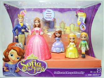 Sofia the First - Sofia and Royal Family figures 5-pack Mattel, Sofia the First, Dolls, 2012, animated