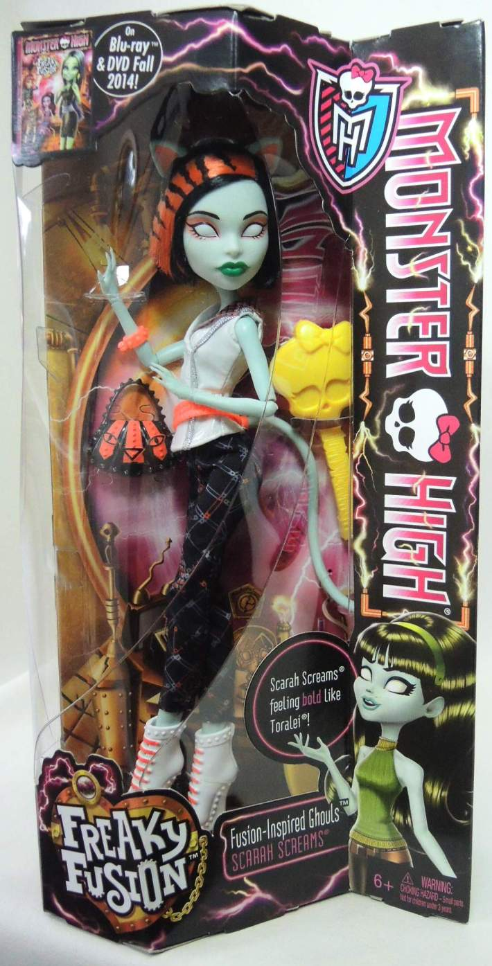 Monster High Freaky Fusion Scarah Screams Doll Mattel, Monster High, Dolls, 2013, teen, fashion, movie