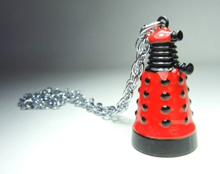 Dr Who Red Dalek alloy pendant necklace China, Dr Who, Necklace, 2015|Color~red, scifi, tv show