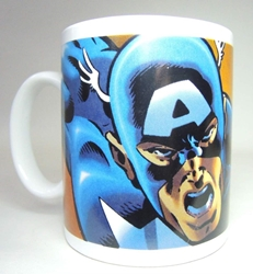 Marvel superhero ceramic mug - Captain America NECA, Marvel, Mug, 2002, superhero, comic book