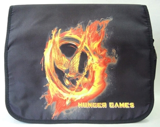 Hunger Games shoulder bag with burning Mockingjay