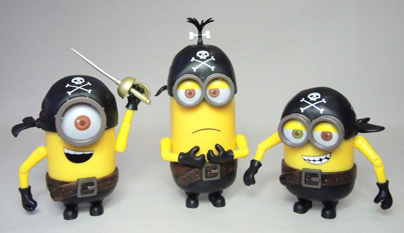 Despicable Me Pirate Minions 3-pack of Figures China, Despicable Me, Action Figures, 2015, animated, movie