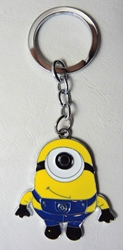 Despicable Me alloy keychain - 1-eyed Minion standing China, Despicable Me, Keychains, 2015|Color~yellow|Color~blue, animated, movie