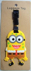 Despicable Me Minion disguised as Sponge Bob - Luggage Tag China, Despicable Me, Luggage Tag, 2015|Color~yellow|Color~brown, animated, movie