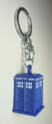 Doctor Who alloy keychain - Blue Tardis Police Box China, Doctor Who, Keychains, 2015|Color~blue, scifi, tv show
