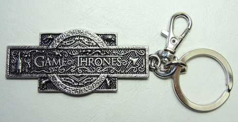 Game of Thrones Alloy Keychain - Logo China, Game of Thrones, Keychains, 2012|Color~bronze, fantasy, tv show