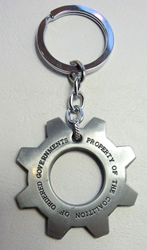 Gears of War Steel COG Alloy Keychain China, Gears of War, Keychains, 2015|Color~steel, scifi, video game