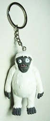 Plants vs Zombies 2.5 inch figure keychain - Yeti Zombie China, Plants vs Zombies, Keychains, 2015|Color~white|Color~mud, horror, halloween, video game