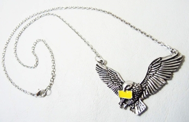Harry Potter alloy pendant necklace - Hedwig the Owl China, Harry Potter, Necklace, 2015|Color~silver|Color~yellow, fantasy, book