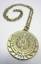 Battlestar Galactica Medallion necklace (brass finish) China, Battlestar Galactica, Necklace, 2015|Color~brass, scifi, tv show
