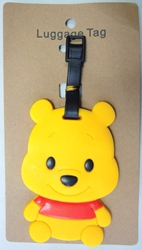 Pooh Bear Luggage Tag China, Winnie-the-Pooh, Luggage Tag, 2015|Color~yellow, kidfare, book