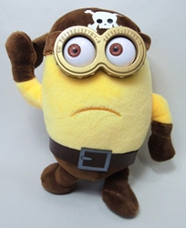 Despicable Me 8 inch plush - Two-eyed Pirate Minion - Sad China, Despicable Me, Plush, 2015, animated, movie