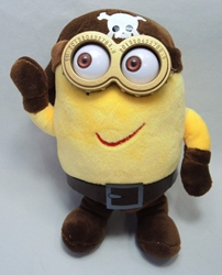 Despicable Me 8 inch plush - Two-eyed Pirate Minion - Happy China, Despicable Me, Plush, 2015, animated, movie