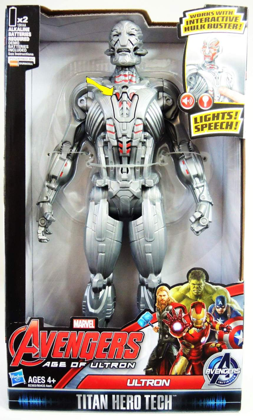 Avengers Age of Ultron Titan Hero Tech 12 inch Ultron Hasbro, Avengers, Action Figures, 2015, superhero, comic book