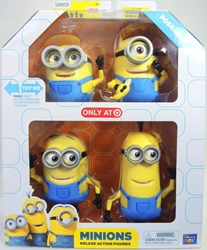 Despicable Me Minions Deluxe 4-Pack of 5 inch Figures Thinkway, Despicable Me, Action Figures, 2015, animated, movie